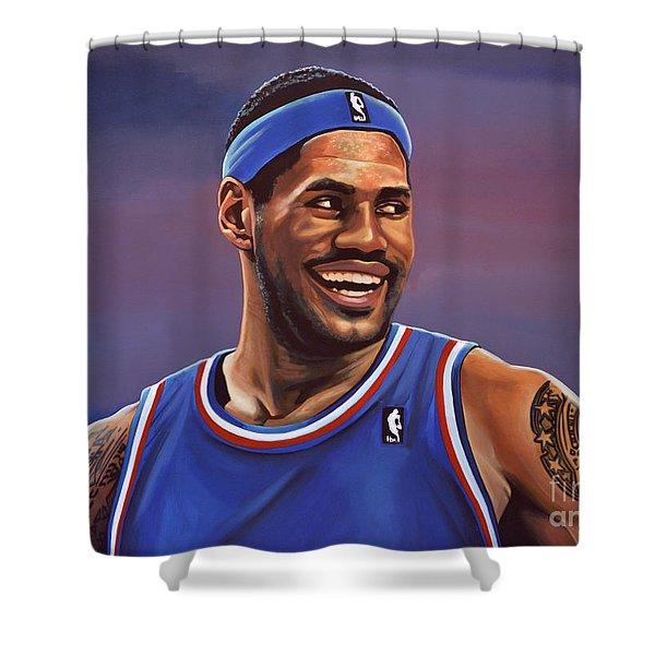 LeBron James  Shower Curtain by Paul  Meijering