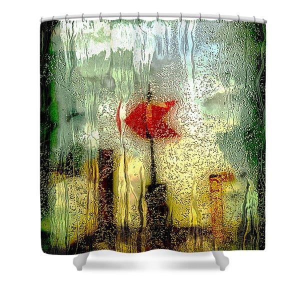 Left Shower Curtain by Jack Zulli