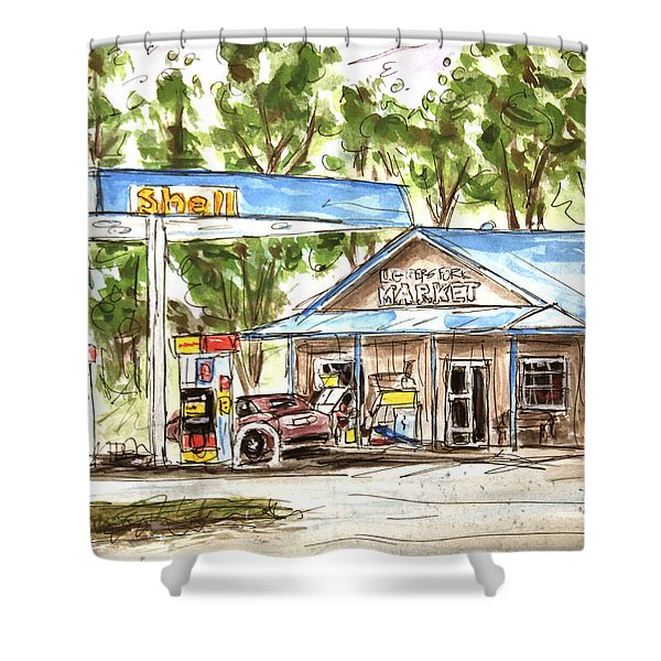 Leipers Fork Market Shower Curtain by Tim Ross