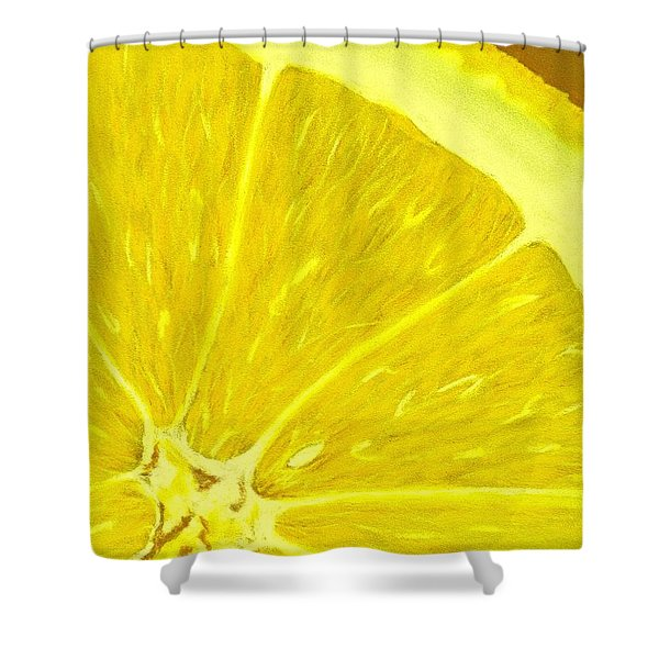 Lemon Shower Curtain by Anastasiya Malakhova