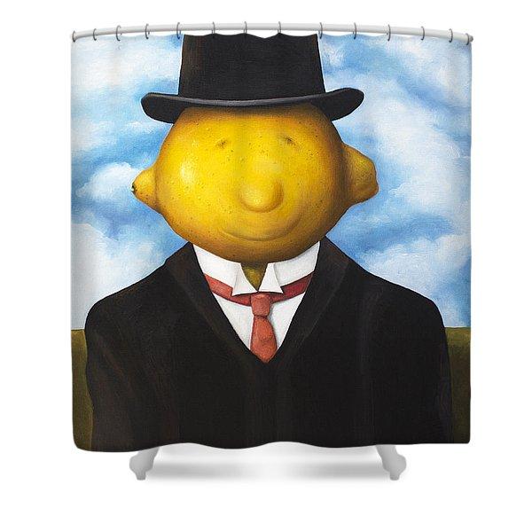 Lemon Head Shower Curtain by Leah Saulnier The Painting Maniac