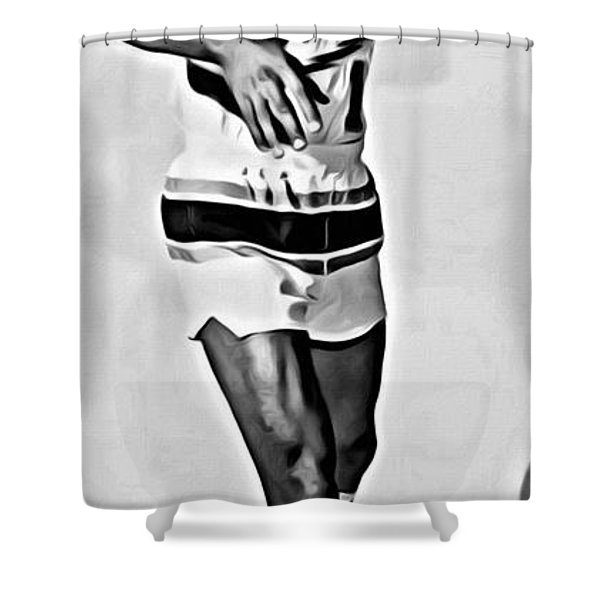 Lenny Wilkens Shower Curtain by Florian Rodarte