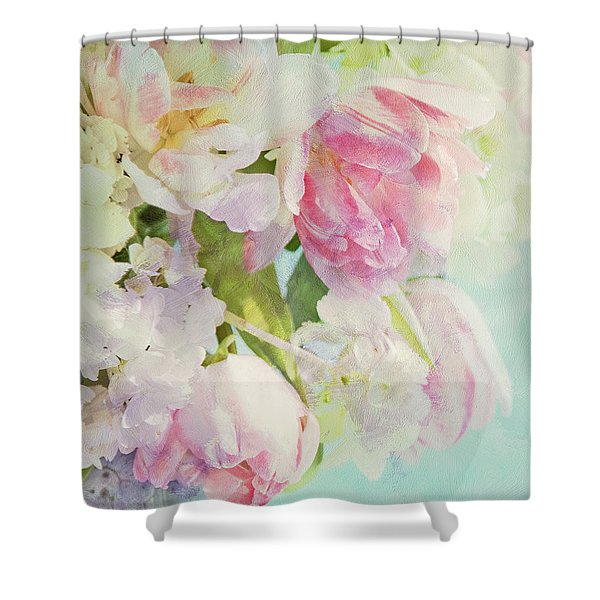 Les Fleurs Shower Curtain by Theresa Tahara