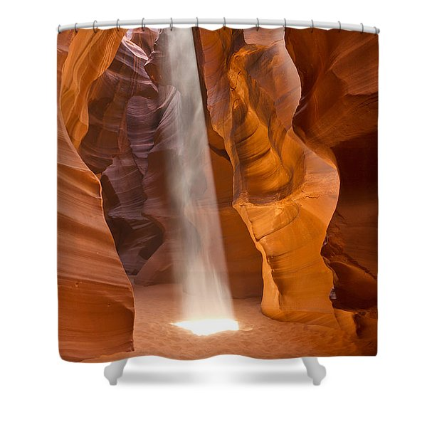 Let The Light Shine Shower Curtain by Bryan Keil