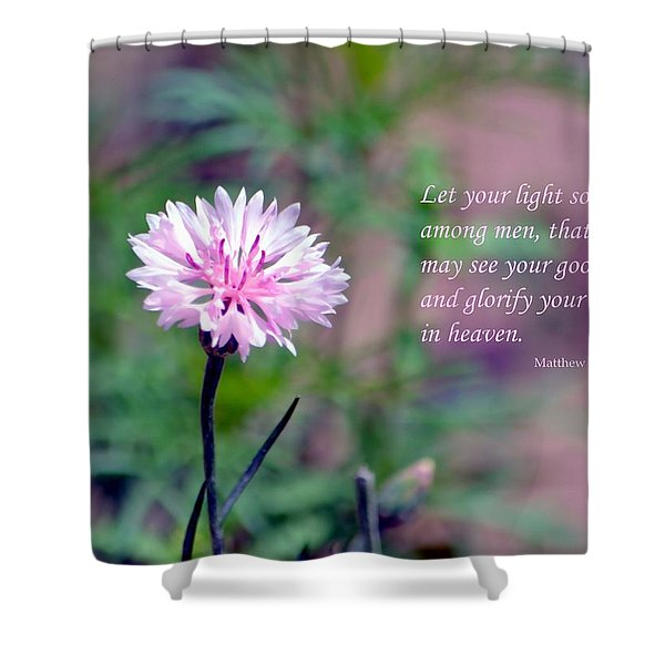 Let Your Light So Shine Shower Curtain by Deena Stoddard