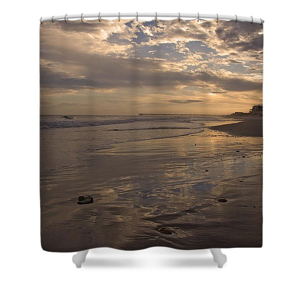 Let's Walk This Evening Shower Curtain by Betsy C  Knapp