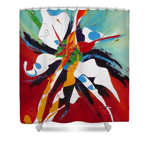 Liberation Shower Curtain by Lida Bruinen