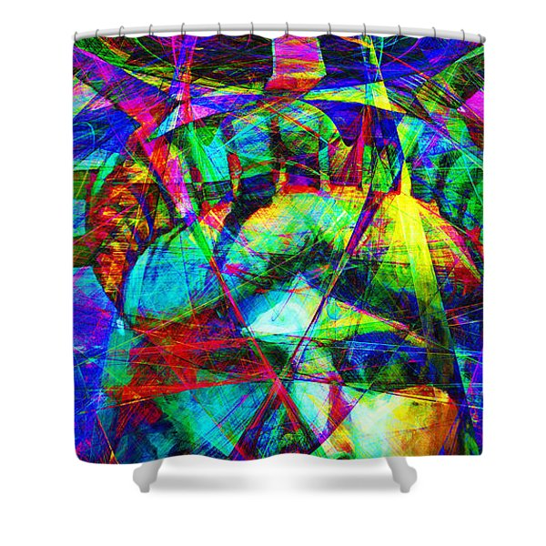Liberty Head Abstract 20130618 Long Shower Curtain by Wingsdomain Art and Photography