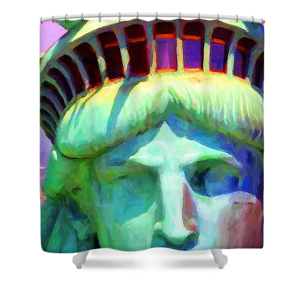 Liberty Head Painterly 20130618 Long Shower Curtain by Wingsdomain Art and Photography