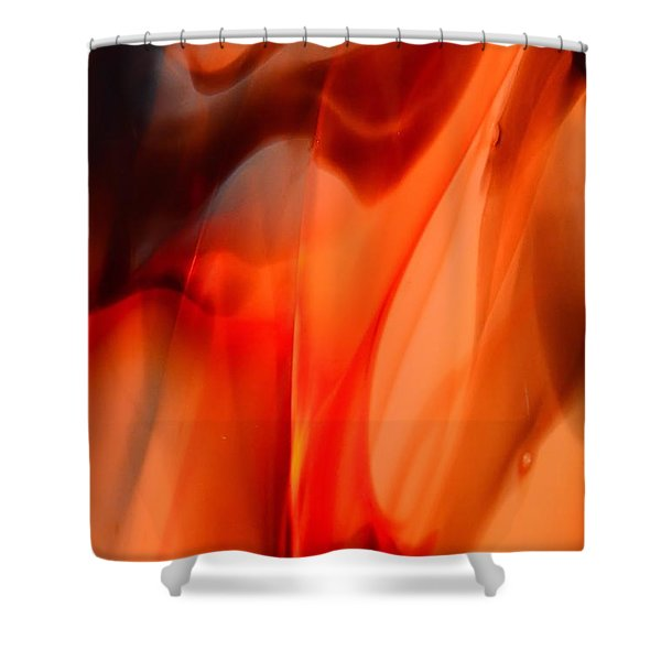 Licking Flame Shower Curtain by Lauren Hunter