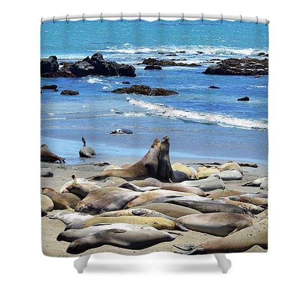Life at the Rookery Shower Curtain by Lynn Bauer