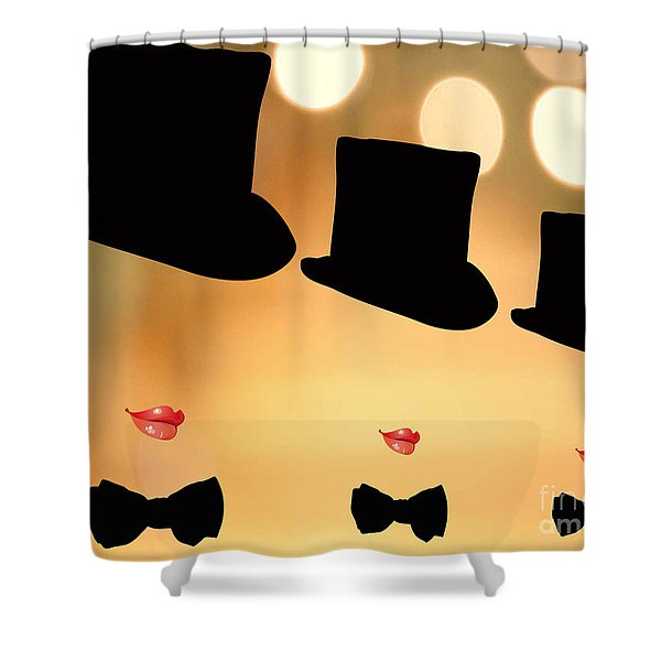 Life Is A Cabaret Shower Curtain by Cheryl Young