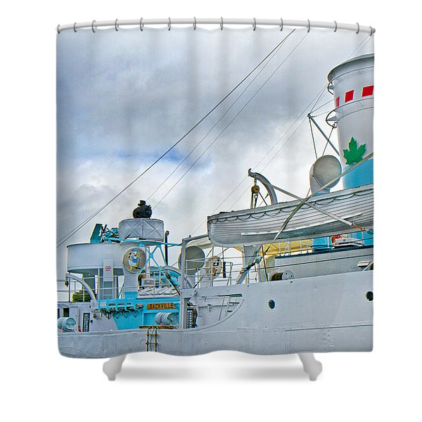Lifesavers Shower Curtain by Betsy C  Knapp