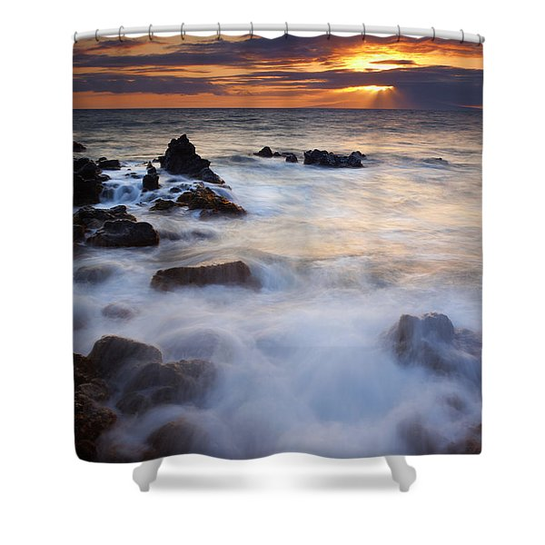 Light Over Lanai Shower Curtain by Mike  Dawson