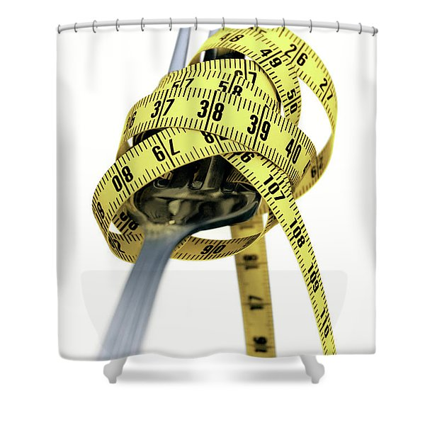 Light Spaghetti Shower Curtain by Carlos Caetano