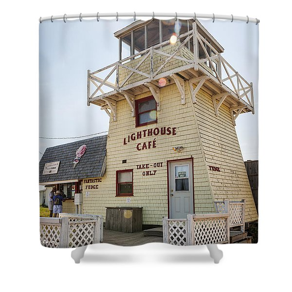 Lighthouse Cafe In North Rustico Shower Curtain by Elena Elisseeva