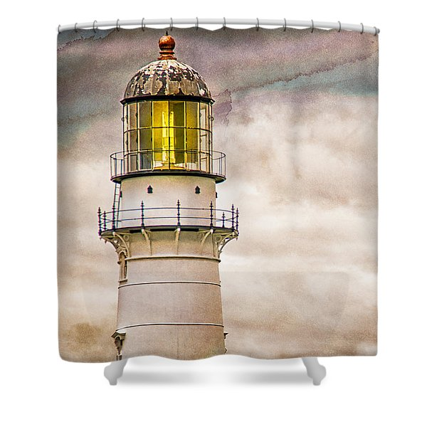 Lighthouse Cape Elizabeth Maine Shower Curtain by Bob Orsillo