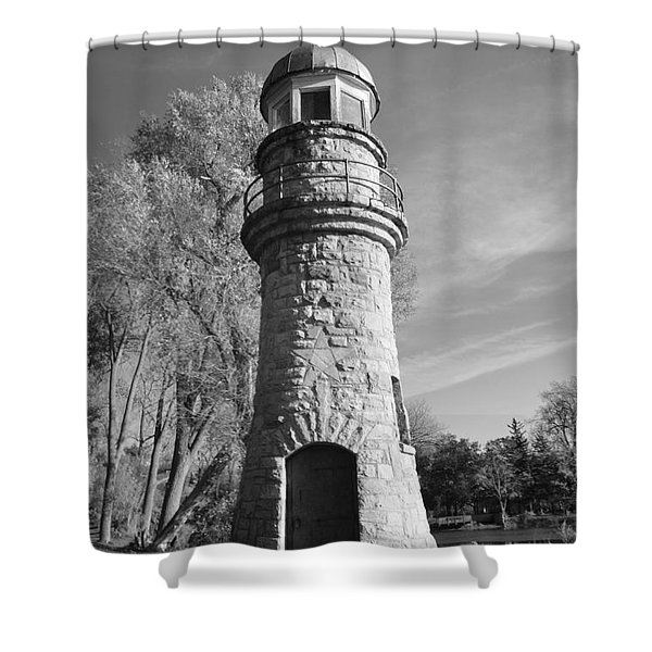 Lighthouse Of Stone Shower Curtain by Kathleen Struckle