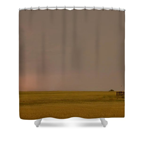 Lightning On the Horizon of Oil Fields  Shower Curtain by James BO  Insogna