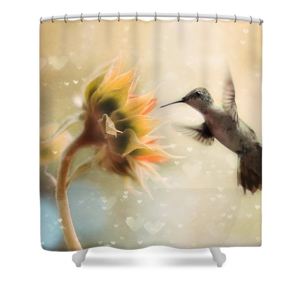 Like a Moth To a Flame Shower Curtain by Amy Tyler