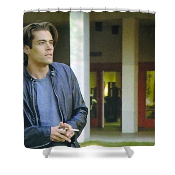 Like The Night When My Girl Went Away Shower Curtain by Luis Ludzska
