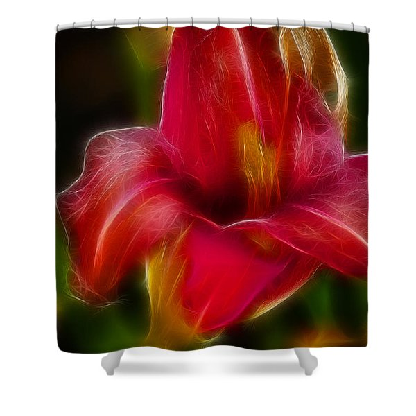 Lily 6081-fractal Shower Curtain by Gary Gingrich Galleries