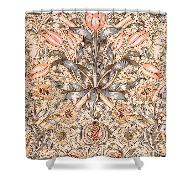 Lily and Pomegranate wallpaper design Shower Curtain by William Morris