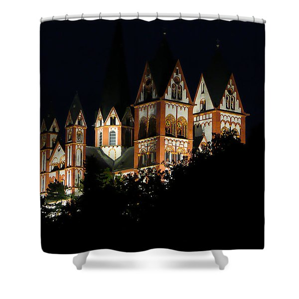 Limburg Cathedral At Night Shower Curtain by Jenny Setchell