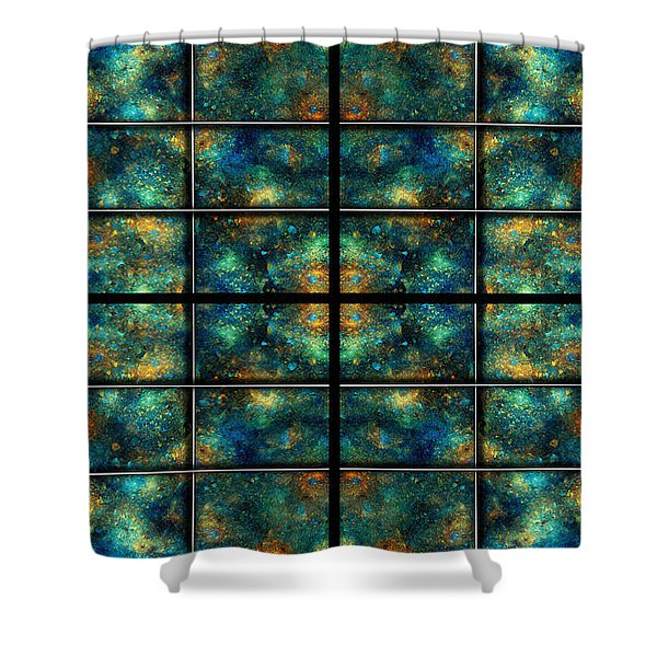 Limitless Night Sky Shower Curtain by Betsy C  Knapp