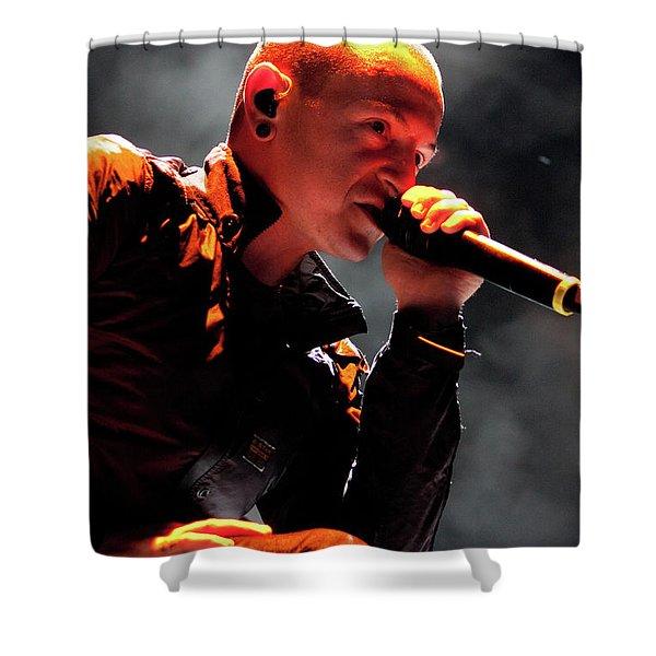 Linkin Park4576 Shower Curtain by Timothy Bischoff