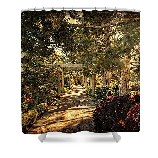 Linnaeus Teaching Garden Shower Curtain by Tamyra Ayles