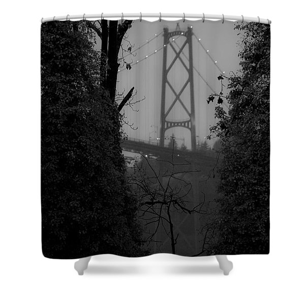 Lions Gate Bridge Shower Curtain by Nancy Harrison