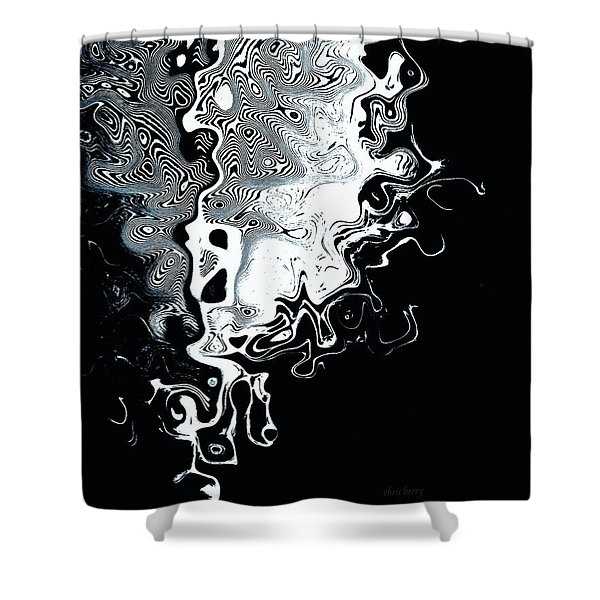 Liquid Feather Shower Curtain by Chris Berry