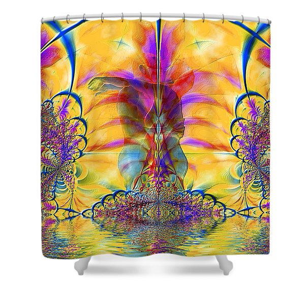 Liquid Lace Shower Curtain by Kurt Van Wagner