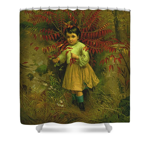 Little Bo Peep 1867 Shower Curtain by JG Brown