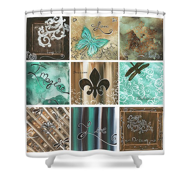 Live and Love by MADART Shower Curtain by Megan Duncanson