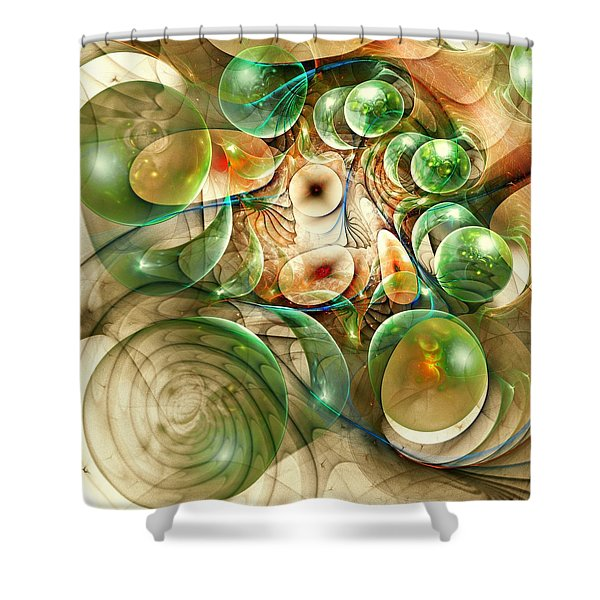 Living Organisms Shower Curtain by Anastasiya Malakhova