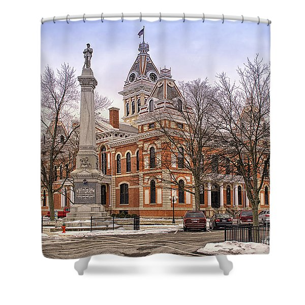 Livingston County Courthouse 06 Pontiac Il Shower Curtain by Thomas Woolworth