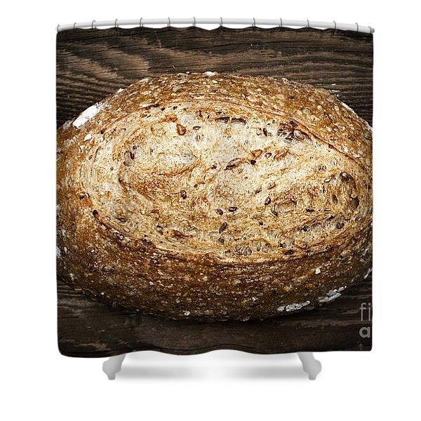 Loaf of multigrain artisan bread Shower Curtain by Elena Elisseeva