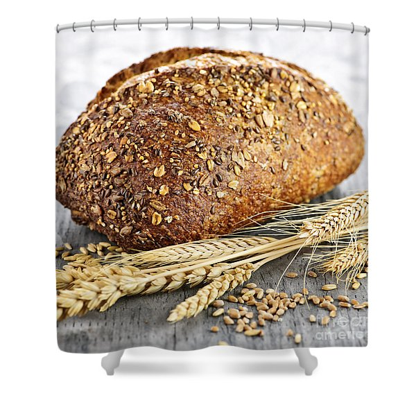 Loaf of multigrain bread Shower Curtain by Elena Elisseeva