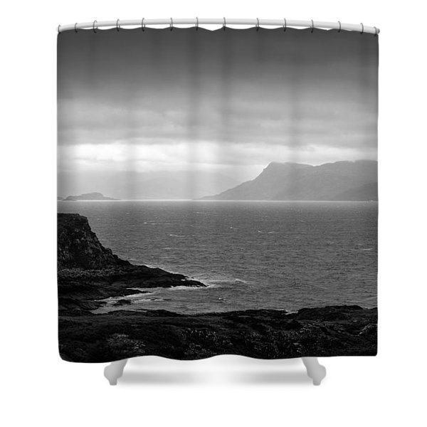 Loch Hoarn Shower Curtain by Dave Bowman