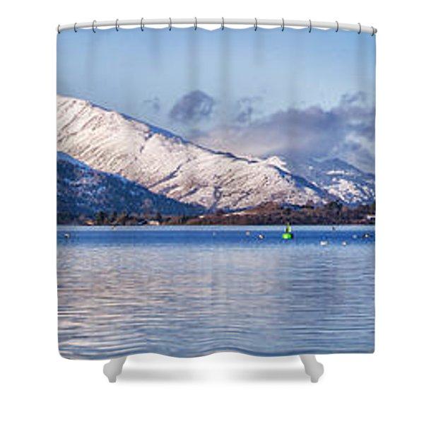 loch lomond panorama Shower Curtain by Antony McAulay