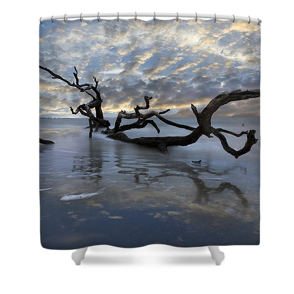 Loch Ness Shower Curtain by Debra and Dave Vanderlaan