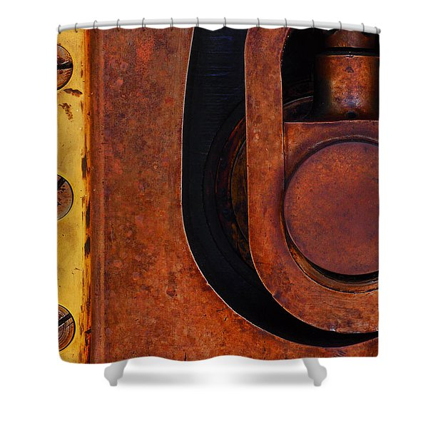 Lock Down Shower Curtain by Skip Hunt