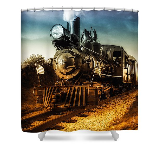 Locomotive Number 4 Shower Curtain by Bob Orsillo