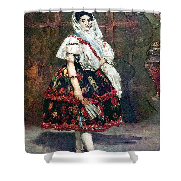 Lola Of Valencia Shower Curtain by Edouard Manet