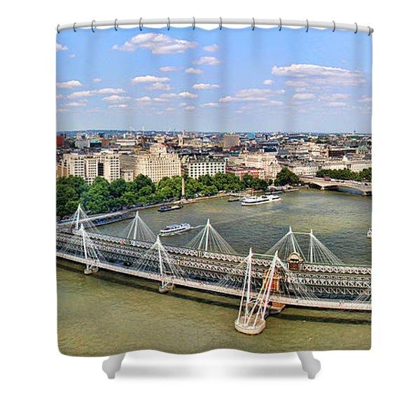 London Panorama Shower Curtain by Mariola Bitner