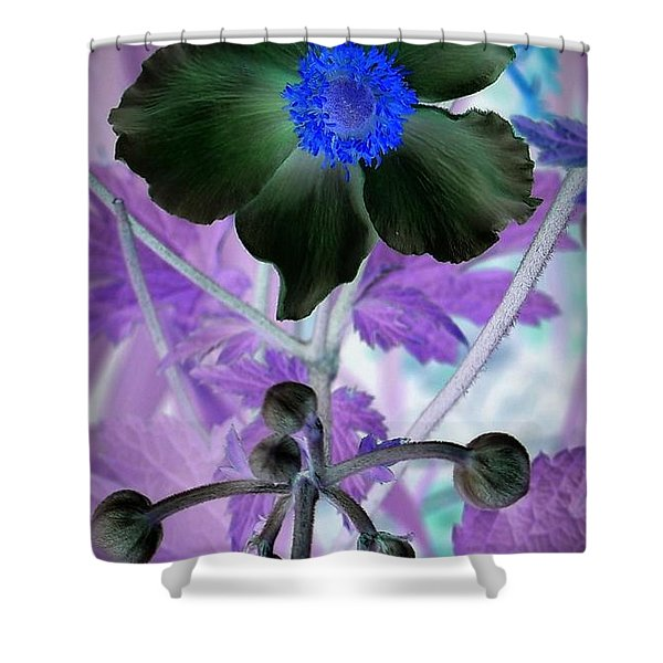 Lone Flower 1 Shower Curtain by Chalet Roome-Rigdon