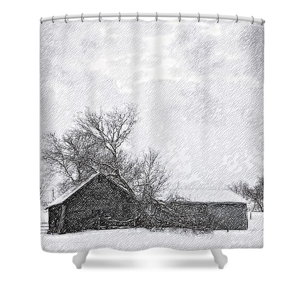 Loneliness Sketch Shower Curtain by Steve Harrington