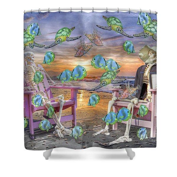 Long Strange Trip  Shower Curtain by Betsy C  Knapp